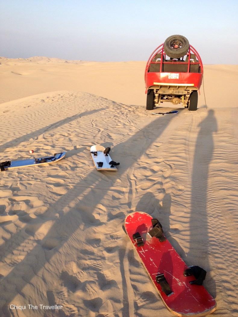 Desierto paracas sandboard tubular duna atardecer