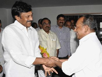 Chiranjeevi with A.K.Antony