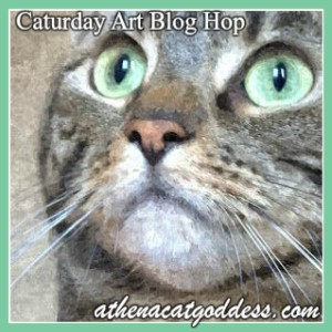 Caturday Art blog hop with Athena Cat Goddess