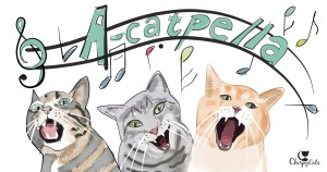 Cats sing for food