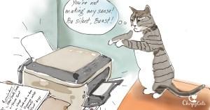 Cat nad printer drawing