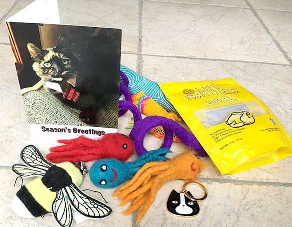 Our secret paws gift box from Sparklecat