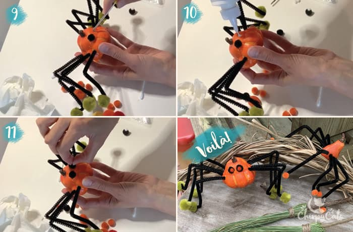 pumpkin spider diy toy instructions