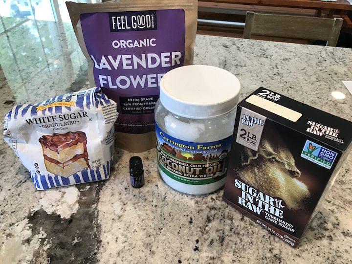 Lavender Sugar Scrub ingredients