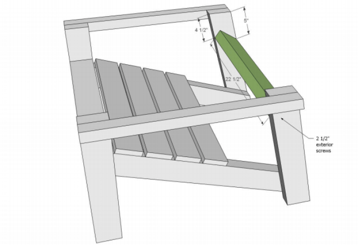Adirondack chair plans for back support