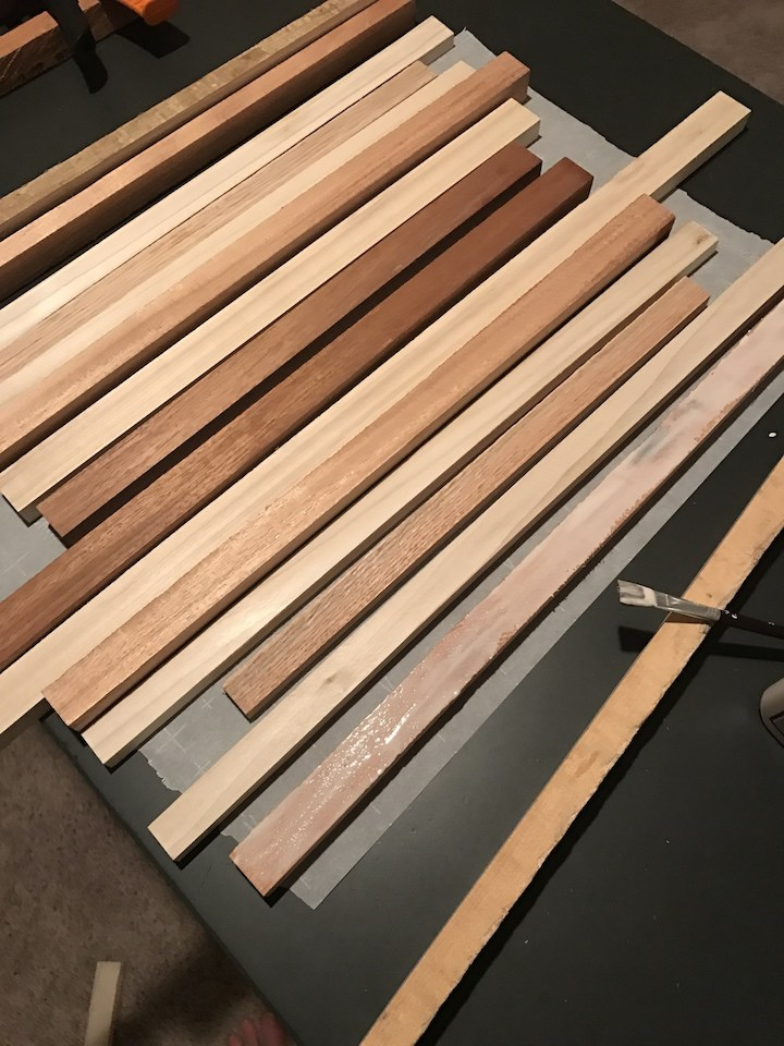 wood strips for cutting board