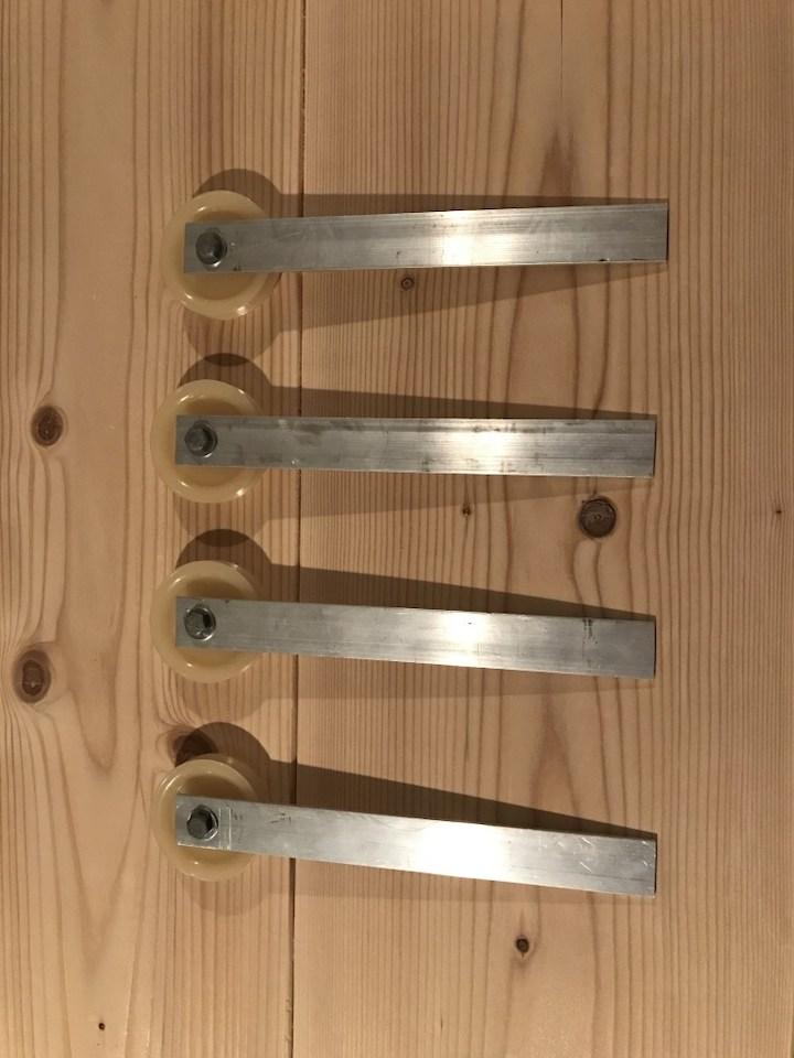 putting together sliding door hardware
