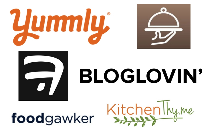 logos of sites that have featured Chisel & Fork recipes