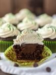 Irish Car Bomb cupcake cut in half