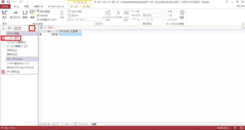 access操作画面1