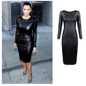 Fashion-Women-font-b-Dress-b-font-Ladies-Bodycon-New-Autumn-2015-Sexy-Clubwear-PU-font