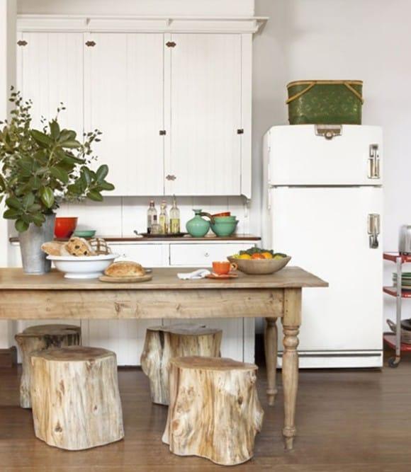 Arredare-casa-con-ceppi-di-legno-Sedute-per-la-cucina