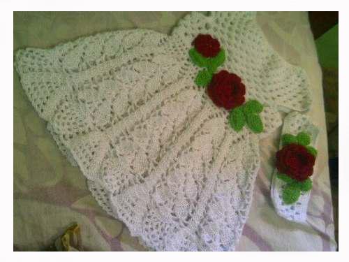 Vestido Tejido Crochet Para Bebe 0 3 Meses Chispiscom