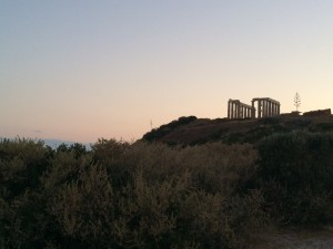 A view of the Temple of Poseidon at Cape Sounion