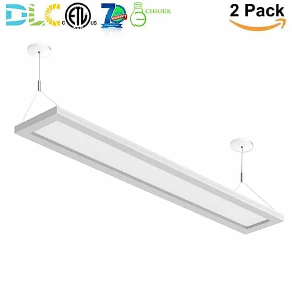 4ft 40w commercial linear pendant lighting up and down panel light fixtures dimmable cetl etl dlc listed tunable 3000k 3500k 4000k warm white