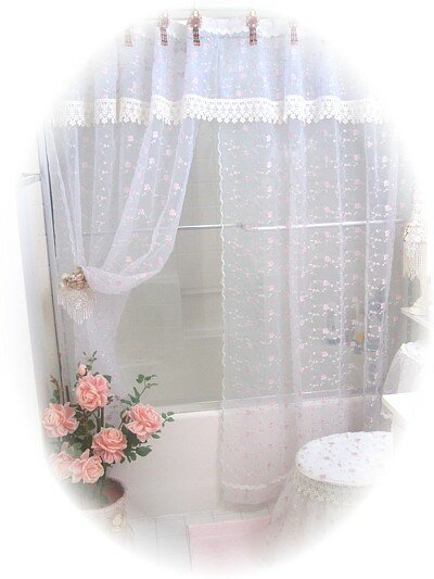 Romantic Victorian Decor Shower Curtain