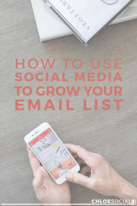 How to Use Social Media to Grow Your Email List