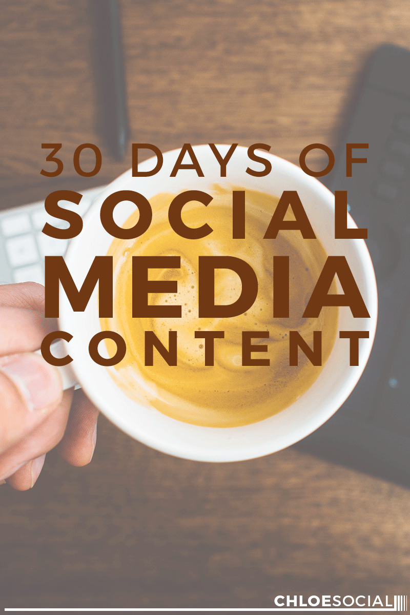 30 Days of Social Media Content