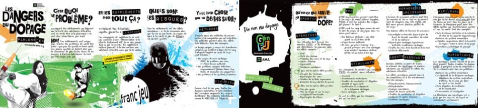 Brochure informative sur les dangers du dopage. Cliquez sur l'image pour télécharger le fichier PDF