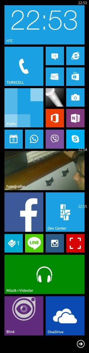 Windows Phone 8 başlangıç ekranı