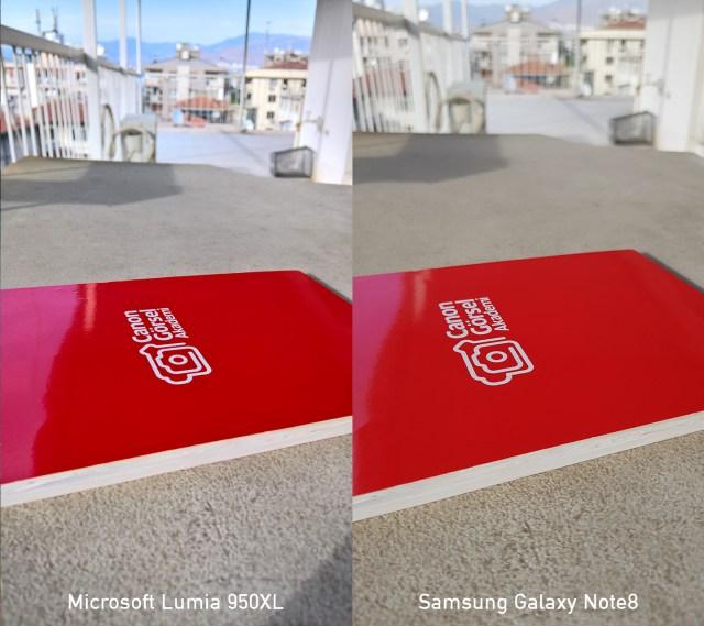 Fotoğraf Karşılaştırması : Samsung Galaxy Note8 vs Lumia 950XL