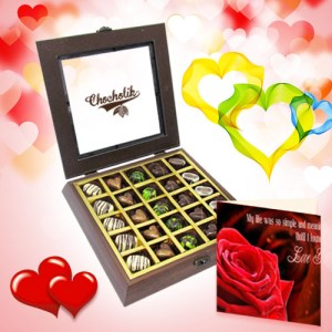 Divine Chocolate Box with Love Card