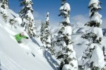 Wendy Fisher skiing big powder Crested Butte