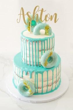 2 tiered baby boy birthday cake