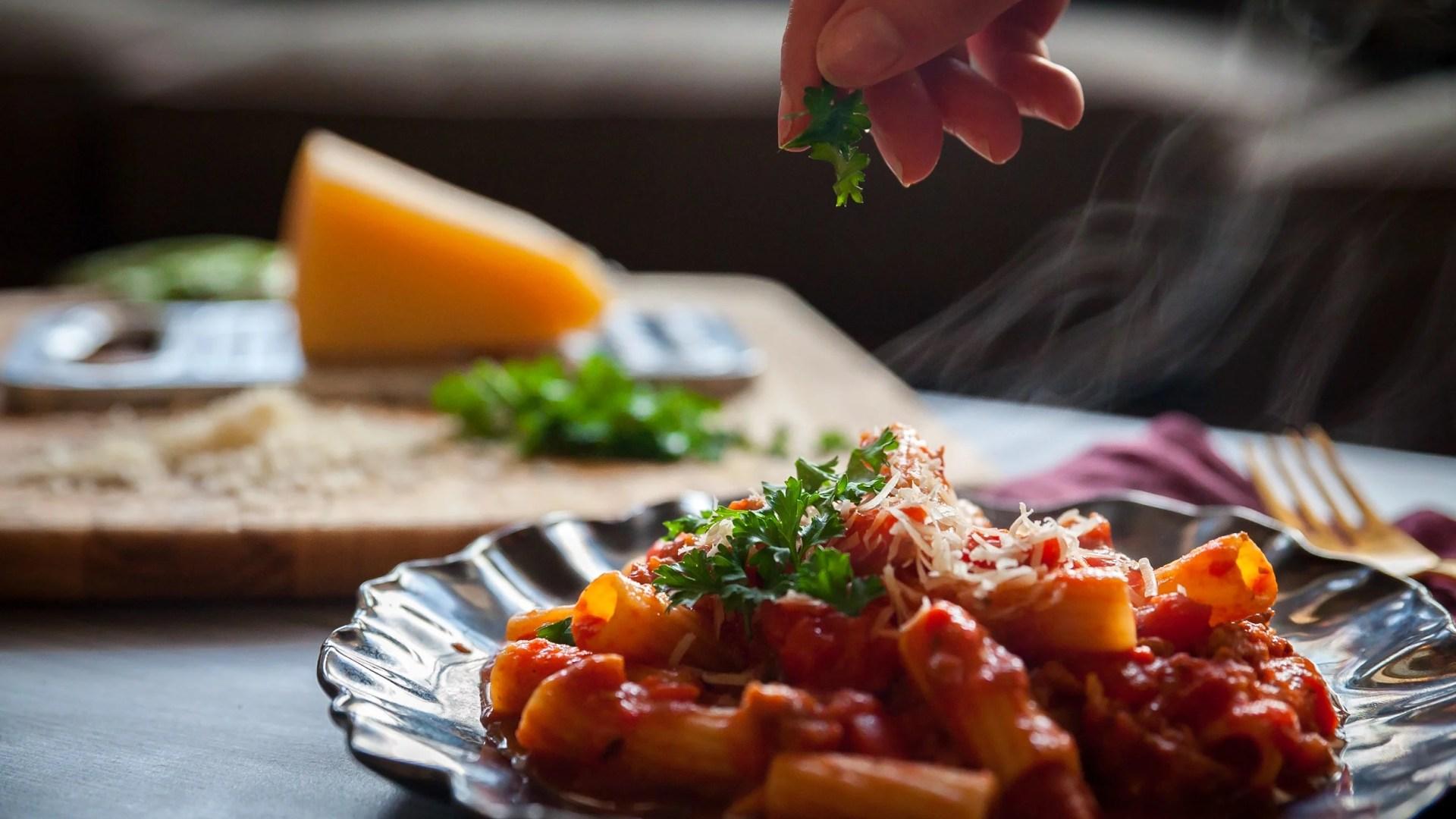 Dinner with Ballo Italian: Rigatoni with Spicy Sausage Ragu