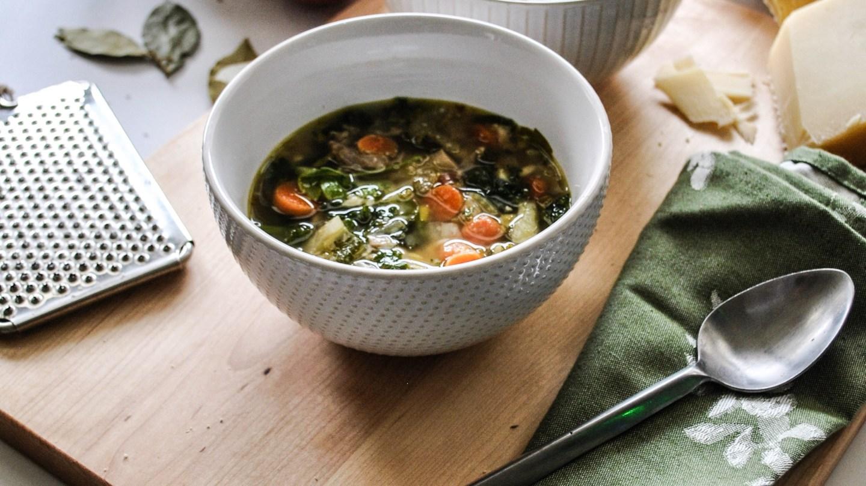 Turkey Kale Orzo Soup