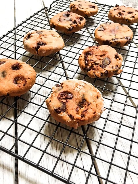 Lifestyle Blog Chocolate and Lace shares her recipe for the Chewiest Pumpkin Chocolate Chip Cookies.
