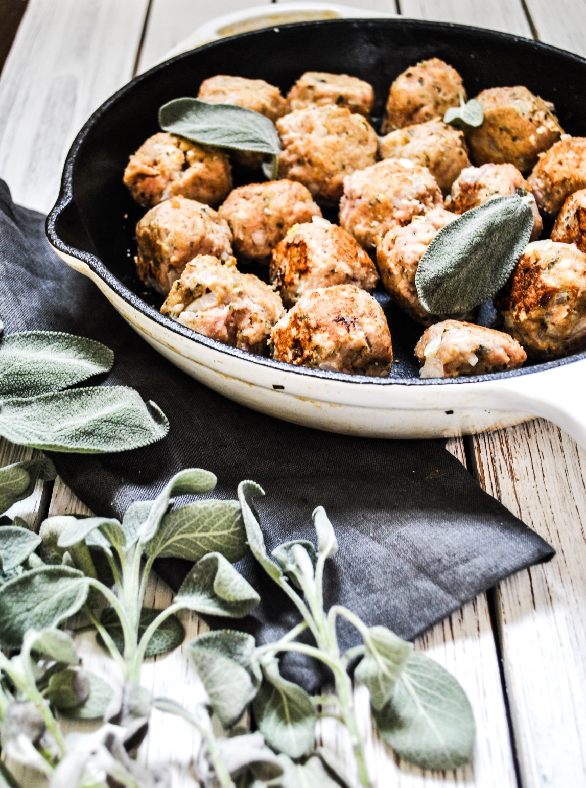 Lifestyle Blogger Chocolate and Lace shares her recipe for Turkey and Sage Meatballs.