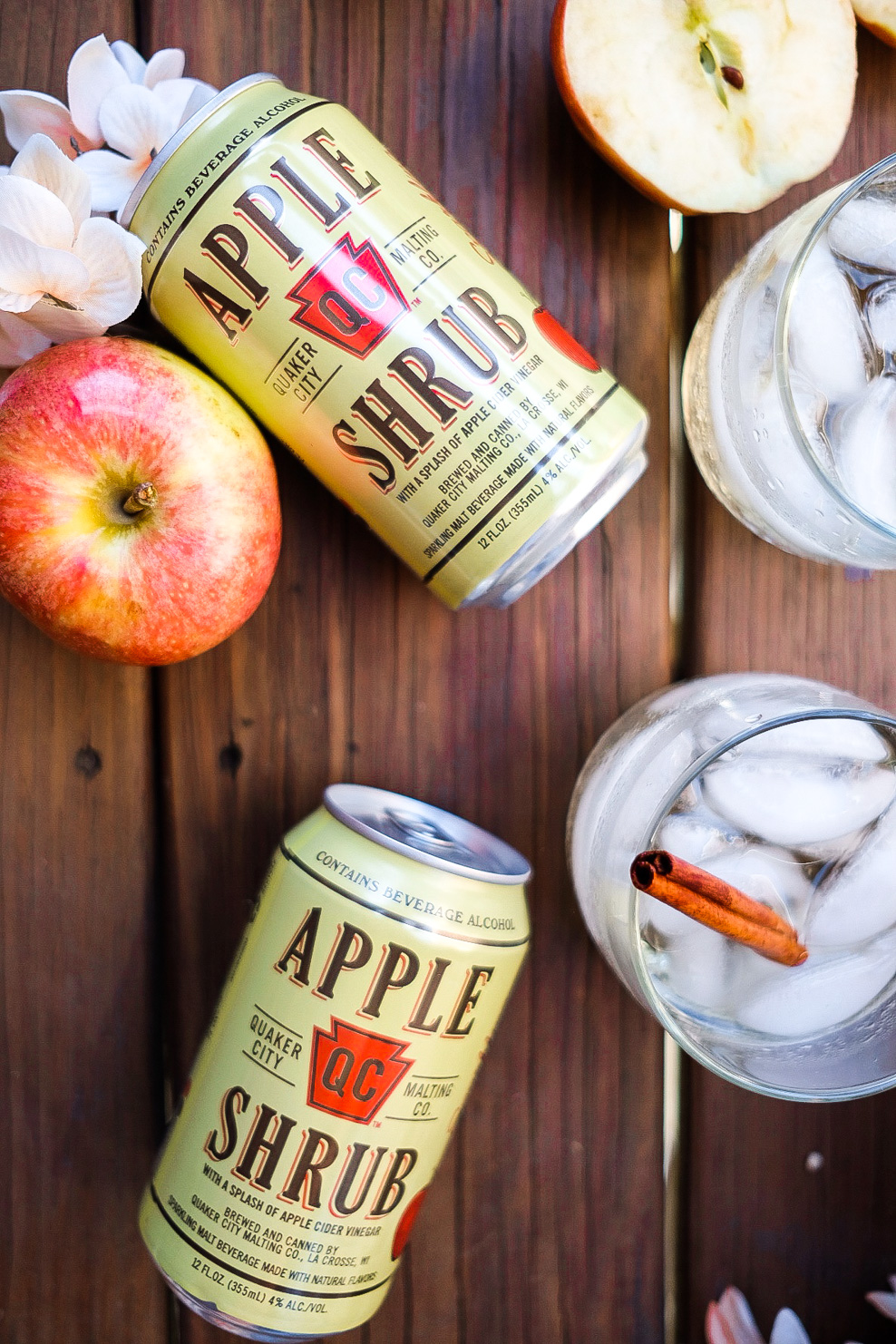 Lifestyle Blogger shares a fall Apple Cocktail from Quaker City Shrub.