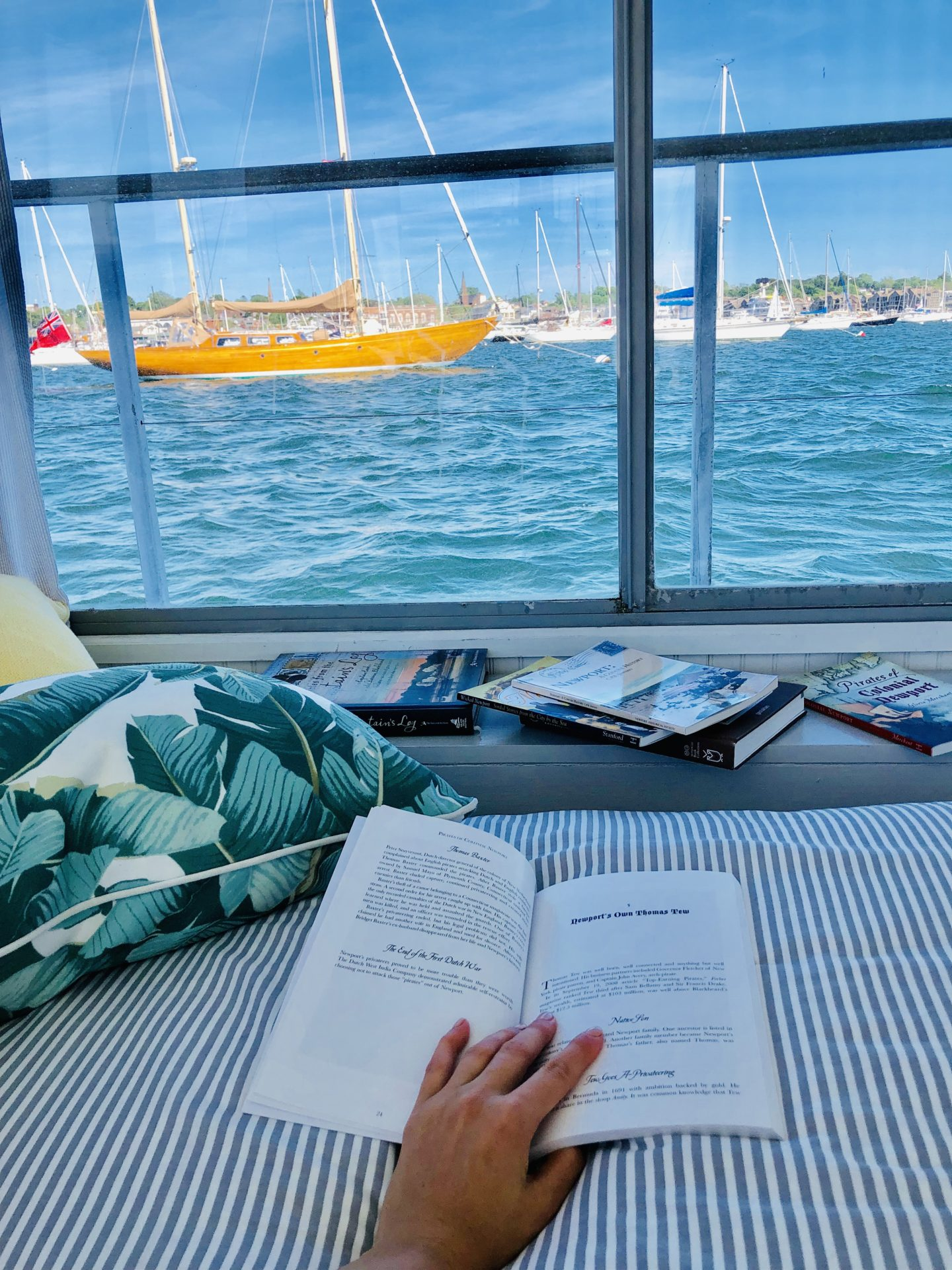 Lifestyle Blogger Chocolate & Lace shares her engagement weekend on the Belafonte in Newport, Rhode Island.