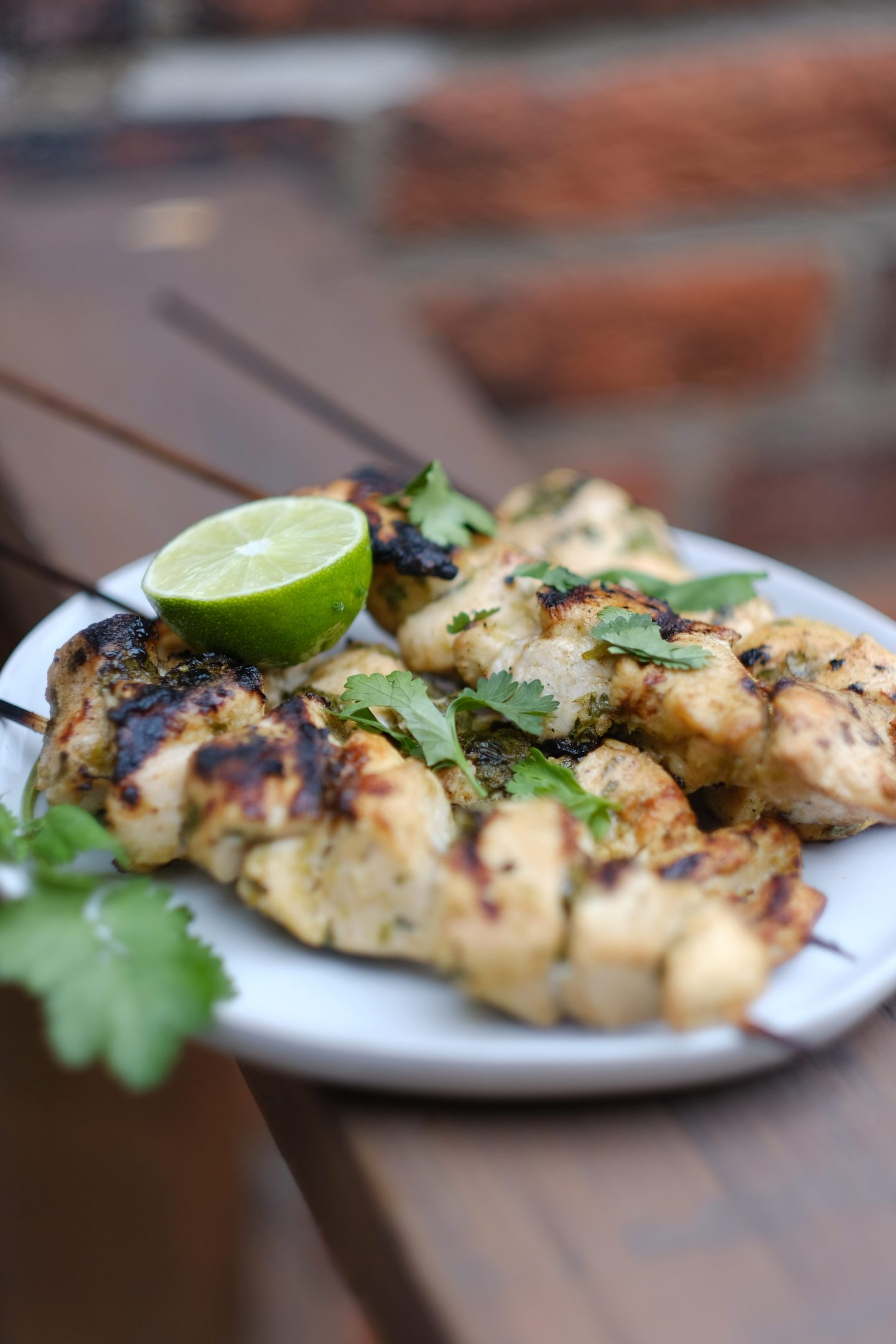 Lifestyle Blogger Chocolate & Lace shares her recipe for Cilantro Lime Skewers.