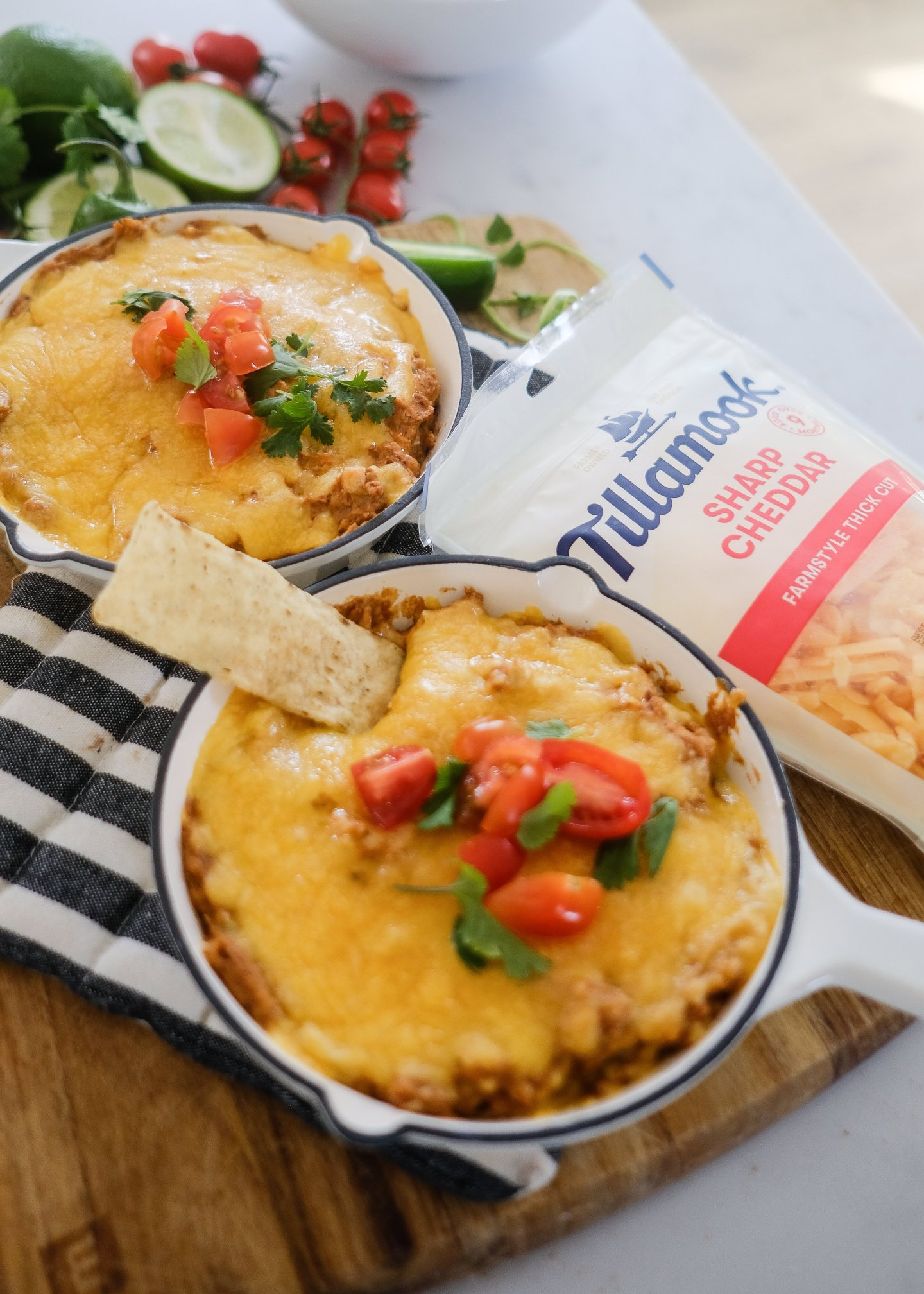 Lifestyle Blogger Chocolate and Lace share her recipe for Easy Cheesy Bean Dip