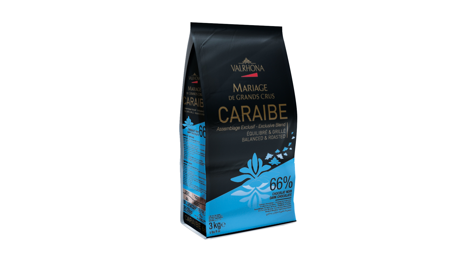 Valrhona Caraibe Dark Chocolate Feves  #4654
