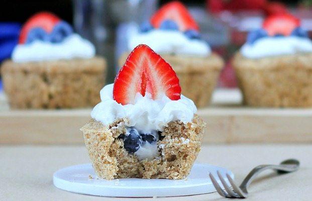 Berry Stuffed Breakfast Cupcake