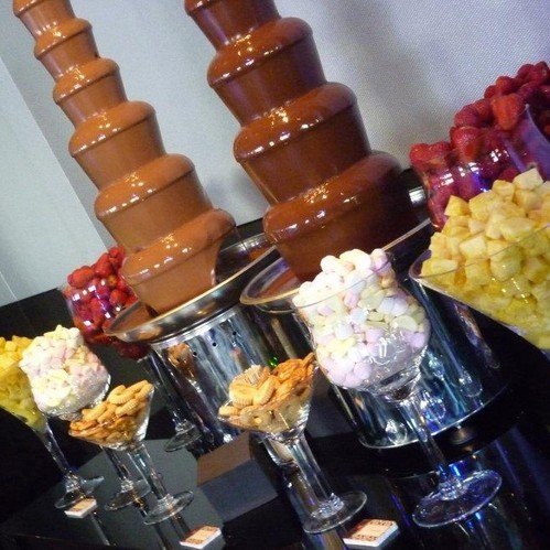 Wedding Chocolate Fountain with dipping items