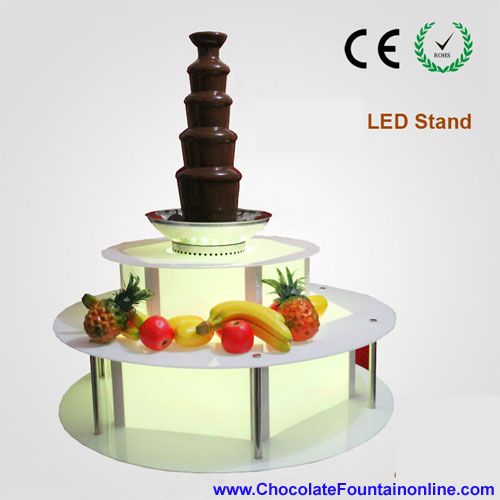 Chocolate Fountain Display Led base
