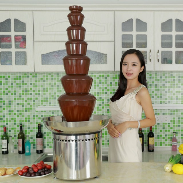 CF42A 7 tiers large chocolate fountain for special events