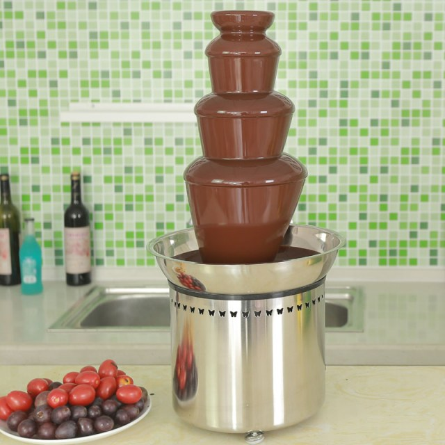 CF23A 4 tiers Cheap Commercial Chocolate Fountain for party