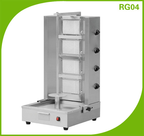 4 burner Kebab Equipment Single Burner Shawarma Machine RG04