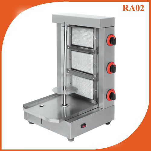 Three Burner Gas Doner kebab Shawarma Grill Machine RA02