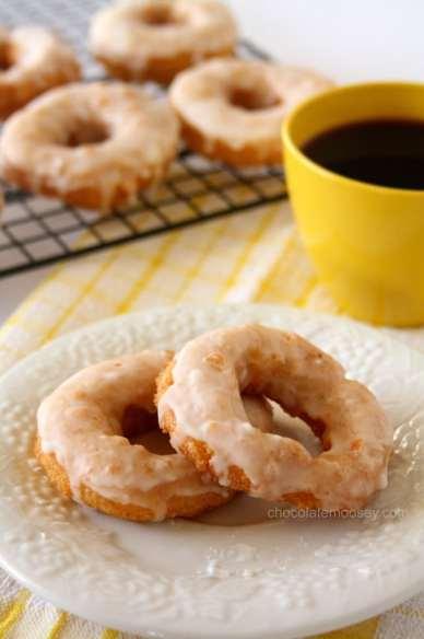 Double Lemon Glazed Doughnuts