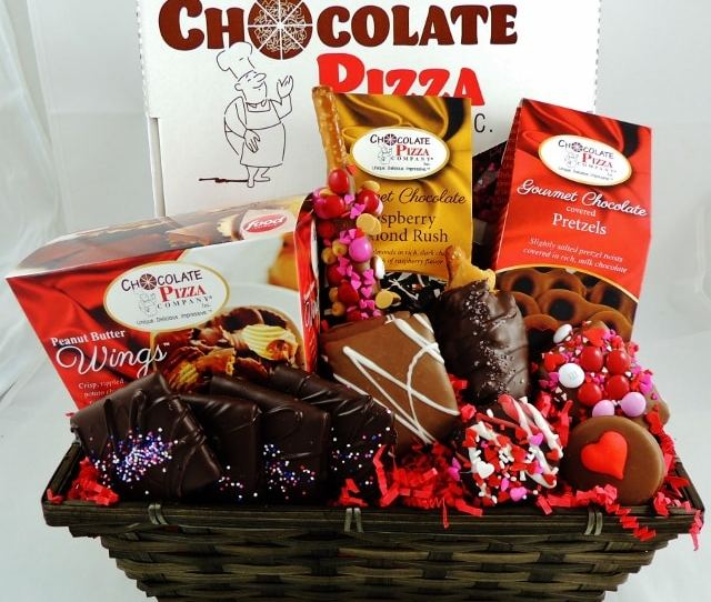 Now And Always Valentines Basket  C B Pizza Gift Basket
