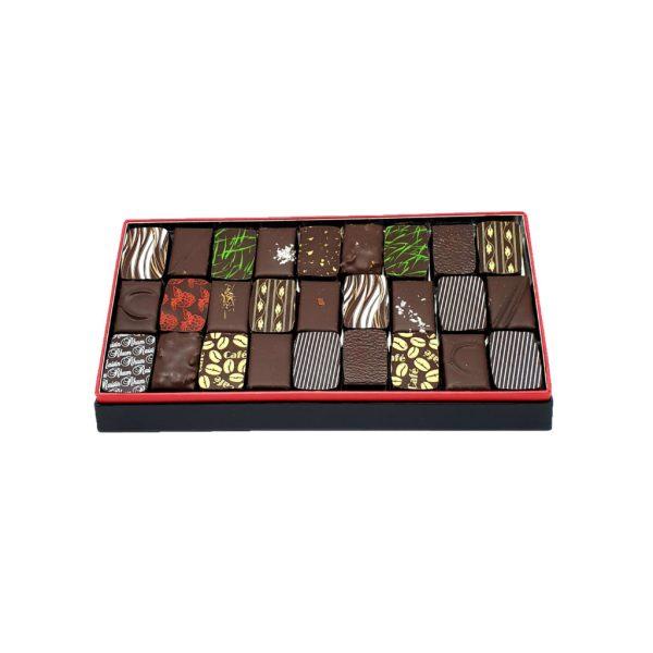 écrin de chocolat noir 200g