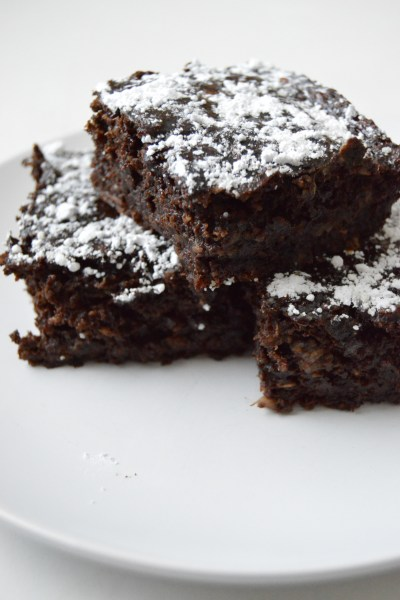 Healthy Double Chocolate Banana Brownies