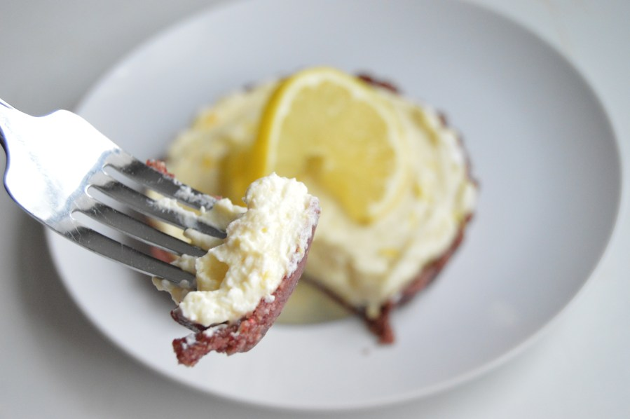 Lemon Cranberry Cheesecake Tart