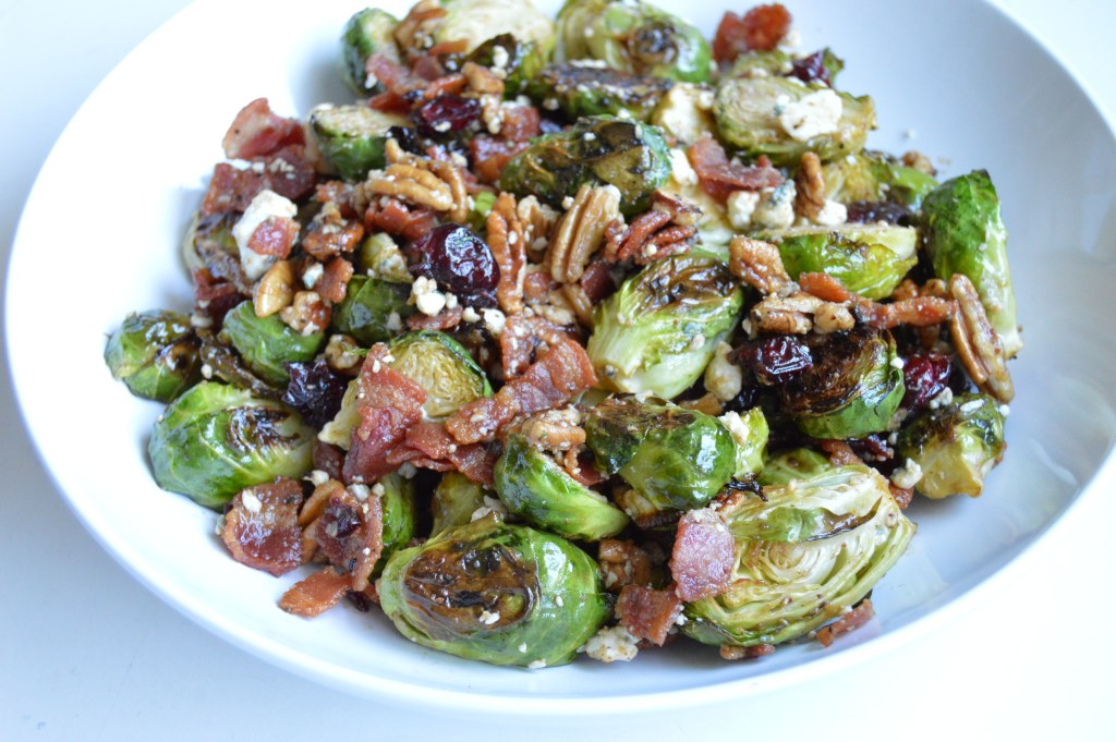 Balsamic Bacon Brussel Sprout Salad